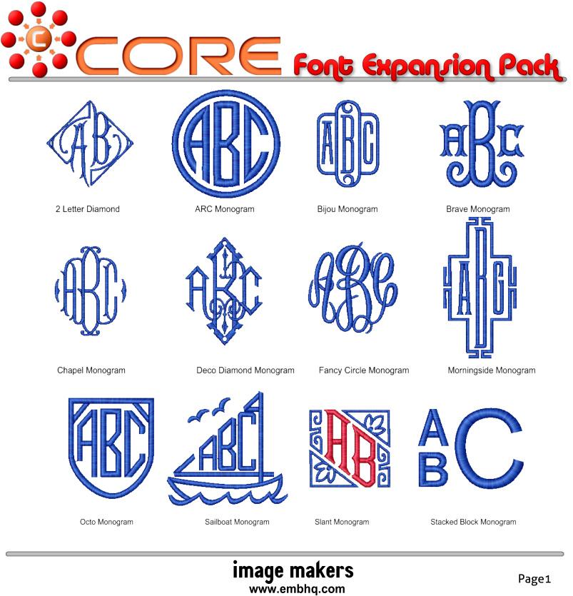 Download Core Expansion Font Pack - EmbHQ Market
